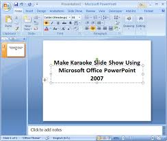 microsoft powerpoint examples how to make a powerpoint presentation 2007 how to make karaoke
