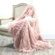 sheepskin rug light pink faux fur medium size of blanket throw blush