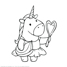 4 Images Of Free Printable Unicorn Coloring Pages Baby Klubfogyas