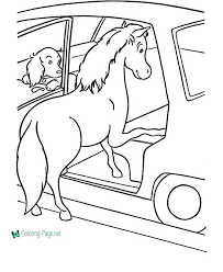 Horse Coloring Pages Free Ring Feat Race In Horses Pictures Rocking