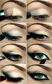 5 cut crease green eye makeup tutorial
