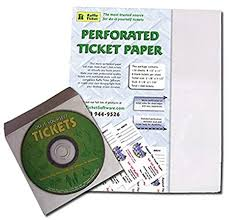 Perforated Raffle Ticket Sheets Amazon Com Raffle Ticket Start Up Kit Perforated Paper For 1 000
