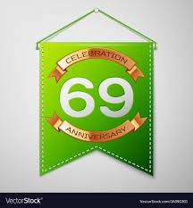 Sixty Design Sixty Nine Years Anniversary Celebration Design