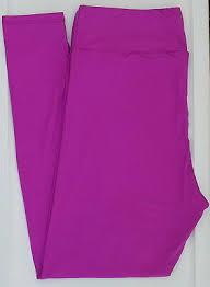 Tc Lularoe Tall Curvy Leggings Solid Bright Violet Electric Purple Nwt 44 Ebay