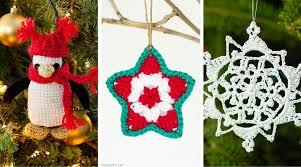 Free Crochet Christmas Ornament Patterns Extraordinary Tis The Season To Crochet Christmas Ornaments 48 Free Patterns