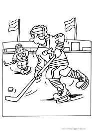 Ice Hockey Color Page Winter Sports Color Page Coloring Pages
