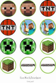 Minecraft Cupcake Toppers Cakes Design