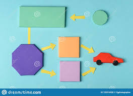Where To Buy Chart Paper Paper Blocks And Car Model Stock Photo Image Of Chart