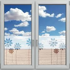 Fensterdekor Sichtschutzfolie Für Fenster Motiv Blumen 1200 X 500mm