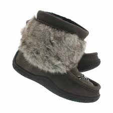 Mukluks Slipper Boots Size Chart Girls Grey Mini Faux Fur Mukluks