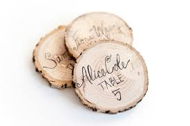wooden name cards