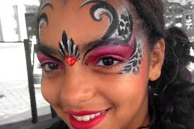 beautiful face painting for teens and face paint for parties