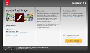 ADOBE FLASH PLAYER COME SCARICARLO DOWNLOAD ADOBE FLASH PLAYER GRATIS NUOVA  VERSIONE IN