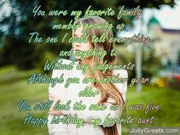 Birthday Poems For Aunt