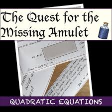 a little quest for quadratic equations great for mixed review of skills or