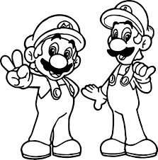 Small Picture Super Mario And Luigi All Right Coloring Page Wecoloringpage