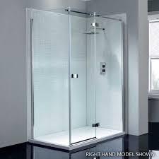 april prestige2 frameless 1200mm hinge shower door with in line panel