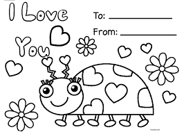 Color valentine´s day coloring pages online with this fun, free coloring app for kids. Happy Valentines Day Coloring Page Funsoke