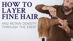 How To Layer Fine Hair Tutorial For Hairdressers Youtube