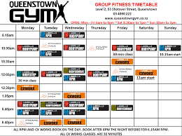 Fitness Class Schedule Template - East.keywesthideaways.co