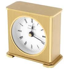 vintage brass case desk clock for