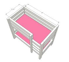 wood bunk beds plans white doll bunk beds for girl doll and doll projects wooden bunk