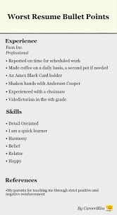 Resume Bullet Points Nardellidesign Com