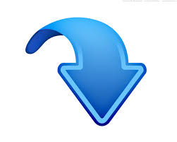 Up, down, left and right arrows, blue web icons   PSDGraphics