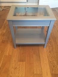 ikea liatorp side table grey glass