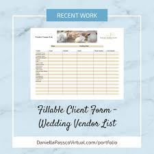Vendor List Excel Template Printable Contactt Ferdin Yasamayolver Com Template Wedding