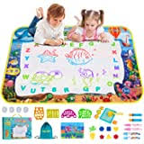 Image not available for color: Amazon Com Jasonwell Aqua Magic Doodle Mat 40 X 32 Inches Extra Large Water Drawing Doodling Mat Coloring Mat Educational Toys Gifts For Kids Toddlers Boys Girls Age 3 4 5 6 7 8 Year Old Office Products
