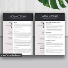 2 Page Cv Template Teacher Resume Template Job Cv Template 1 2 3 Page Word Resume Design Creative And Modern Resume Cover Letter Instant Download Angelique