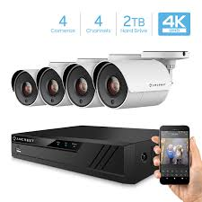 Amcrest UltraHD 4K 4-Channel Video Security System w/ Four (8-Megapixel) Outdoor IP67 Bullet (8