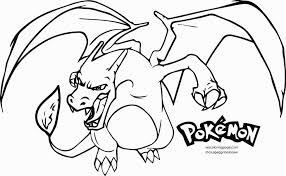 Mega Charizard X Coloring Page Happy Living