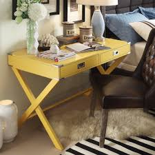 INSPIRE Q Kenton X Base Wood Accent Campaign Writing Desk by - Walmart.com