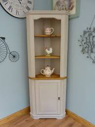 Shabby Chic Corner Shelves Delectable Beautiful Painted Shabby Chic Pine Corner Unit Storage Shelves