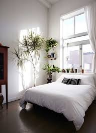 White Minimal NYC Loft Styled Bedroom White Washed Walls And Dark Interesting Simple Bedrooms