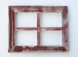 5x7 red rustic picture frame collage window shabby chic wall decor rustic picture frames collages r56 rustic