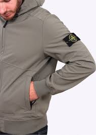 Triads Designer Clothing Stone Island Soft Shell R Jacket Sage Stone Island
