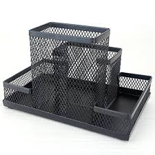 neat office supplies. Demarkt Multifunction Pen Holder Mesh Square Storage Container Box Fashion Neat Office Supplies T