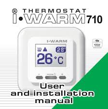 thermostat user and installation manual