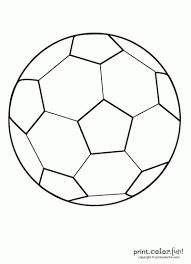 Small Picture printable soccer coloring pages Soccer ball Print Color Fun