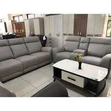 Light Grey Couch Set 6 Seater Light Grey Rocking Recliners Sofa Set With Console