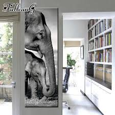 <b>FULLCANG</b> 5d diy diamond painting <b>black</b> and white animals giraffe ...