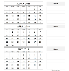 month template 2018 printable 2018 3 month calendar template seven photo brilliant