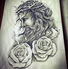 Jesus Tattoo Drawing At Getdrawingscom Free For Personal Use