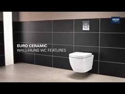<b>Безободковый унитаз</b> GROHE Euro Ceramic 39328000 - YouTube