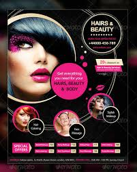 this hair and beauty salon flyer template es with two colour options has properly layered photo