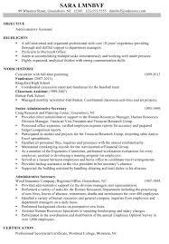 Best Sample Resume Administrative Assistant Resumes Save Sample