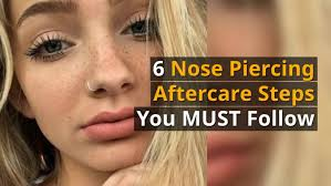 nose piercing aftercare healing guide